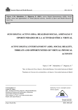 ocio digital activo - Journal of Sport and Health Research