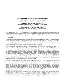 corte interamericana de derechos humanos* caso garcía lucero y
