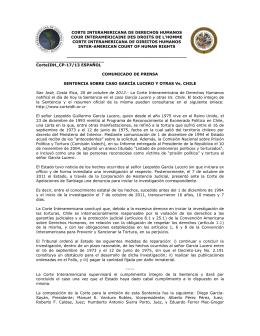 Versión en español - Corte Interamericana de Derechos Humanos