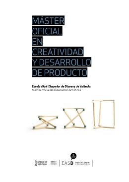 máster oficial en creatividad y desarrollo de producto