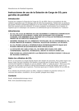 Manual de Estación de Carga de CO2 de MPA