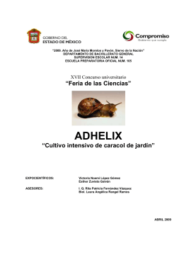 "ADHELIX ""Cultivo intensivo de caracol de jardín"""