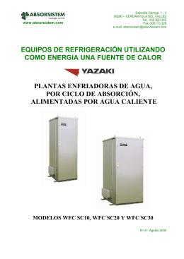 equipos de refrigeración utilizando como energia una fuente de