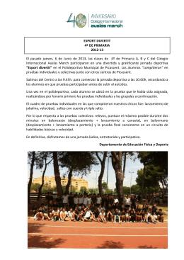 ESPORT DIVERTIT 4º DE PRIMARIA 2012
