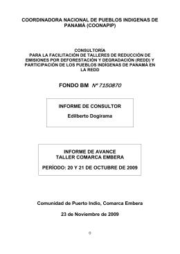 coordinadora nacional de pueblos indigenas de panamá (coonapip)