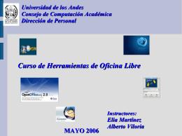 2.Presentación Open Office - al Consejo de Computación Académica