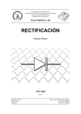 Rectificación - Facultad de Ciencias Exactas, Ingeniería y