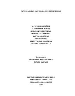 plan de lengua castellana por competencias