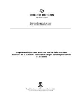 Roger Dubuis aúna sus esfuerzos con los de la aerolínea Emirates