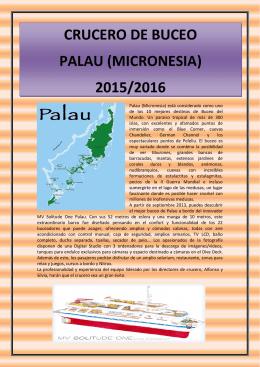 crucero de buceo palau (micronesia) 2015/2016