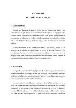 CAPITULO XVI EL CONTRATO DE FACTORING 1