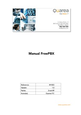 Manual FreePBX en español