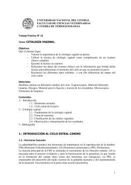 citología vaginal exfoliativa - Facultad de Ciencias Veterinarias