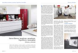 Gama Blanca: lavadoras, secadoras, frigoríficos y lavavajillas