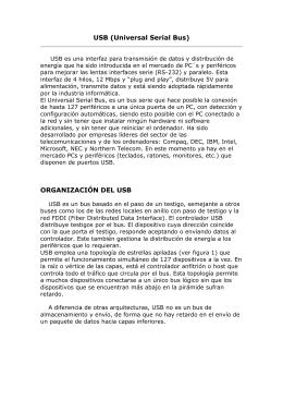 USB (Universal Serial Bus) ORGANIZACIÓN DEL USB