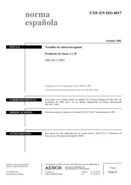UNE-EN ISO 4017:2001