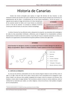 Historia de Canarias. Los aborígenes canarios