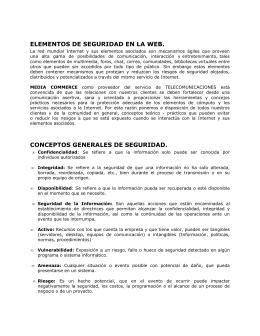 ELEMENTOS DE SEGURIDAD EN LA WEB