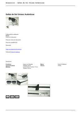 Accesorios : Gafas de Sol Unisex Auténticas