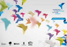AGENDA DETALLADA - Edinburgh International Culture Summit