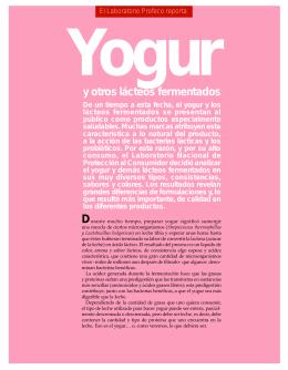 Yogur y otros lácteos fermentados
