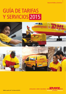 DHL Express Tarifas y Guía de Servicios 2015