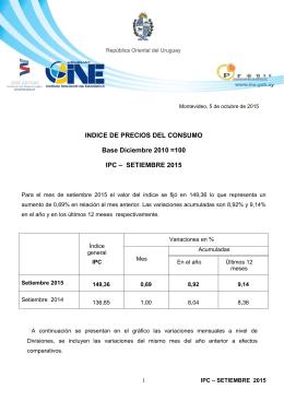 Comunicado de Prensa IPC Setiembre 2015