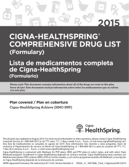 CIGNA-HEALTHSPRING® COMPREHENSIVE DRUG LIST