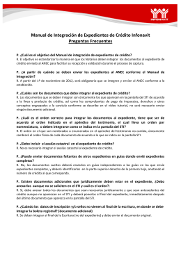 Manual de Integración de Expedientes de Crédito Infonavit