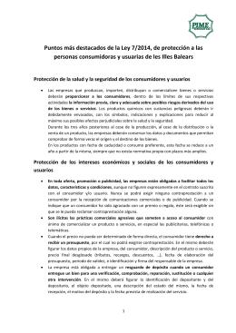 Principales puntos de la Ley 7/2014