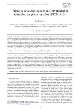 Historia de la Zoología en la Universidad de Córdoba: los primeros
