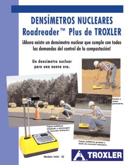 DENSÍMETROS NUCLEARES Roadreader™ Plus de TROXLER