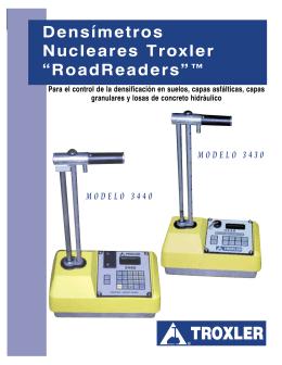 "Densímetros Nucleares Troxler ""RoadReaders""™"