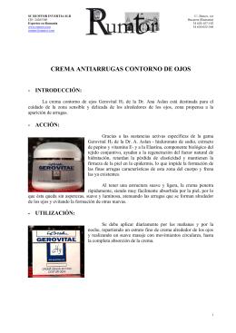CREMA ANTIARRUGAS CONTORNO DE OJOS