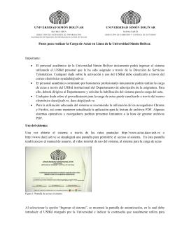 pasos - Cargas de Actas - Universidad Simón Bolívar