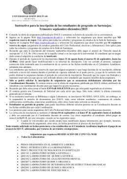 Instructivo de Inscripción septiembre-diciembre 2015