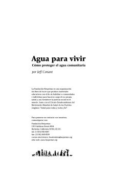 Agua para vivir (folleto entero)