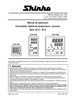 Manual de operación Controlador digital de temperatura / proceso