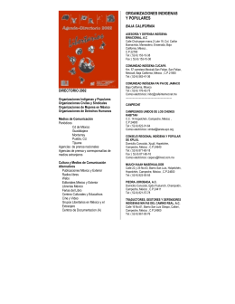 ORGANIZACIONES INDIGENAS Y POPULARES