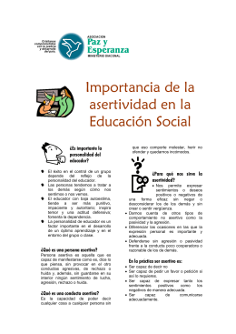Importancia de la asertividad en la educación social