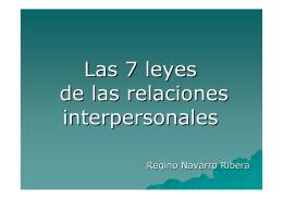 Las 7 leyes de las relaciones interpersonales