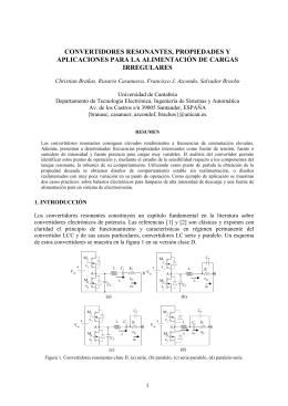 convertidores resonantes, propiedades y aplicaciones - e