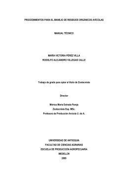 Trabajo de Grado Manual Residuos Orgánicos Avicolas 2009