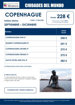 CIUDADES DEL MUNDO: Copenhague, desde 228 € + tasas