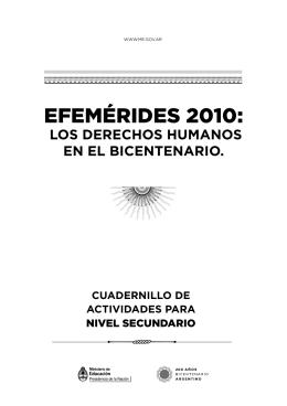 Efemérides 2010. Los Derechos Humanos en el Bicentenario