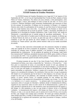 Crónica de la XXXIII Semana de Estudios Monásticos Salamanca