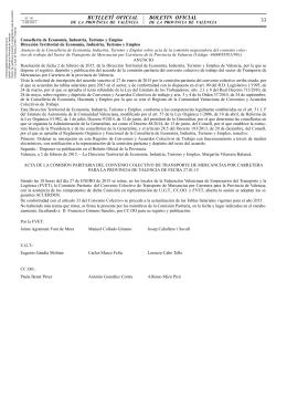 Acta de la comisión negociadora del convenio colectivo de trabajo