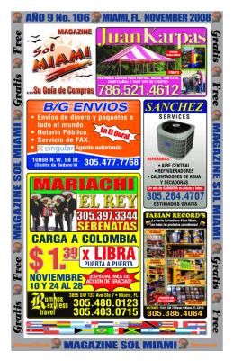 305.382.3900 - Magazine Sol Miami