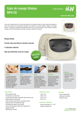 Cojín de masaje Shiatsu MP4130