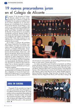 19 nuevos procuradores juran en el Colegio de Alicante